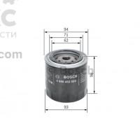 Фильтр масляный BOSCH 0 986 452 024 Nissan Pathfinder Almera Primera