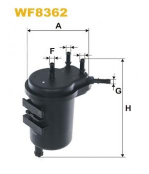 Фильтр топливный WIX WF8362 Nissan Juke Note Micra Tida