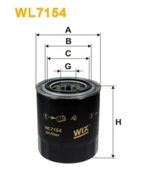 Фильтр масляный WIX WL7154 Mitsubishi L300 L400 Hyundai H100