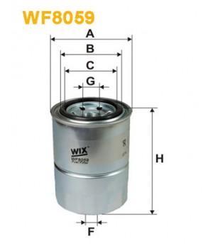 Фильтр топливный WIX WF8059 Mitsubishi Lancer Colt Galant