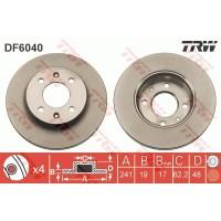 Тормозной диск передний TRW DF6040 Hyundai Getz