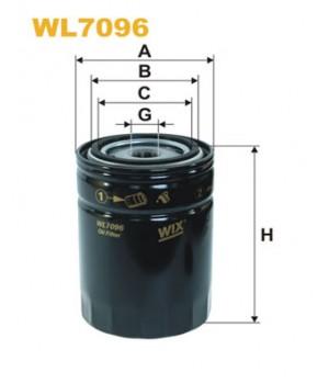 Фильтр масляный WIX WL7096 Toyota Hiace Hilux Land Cruiser