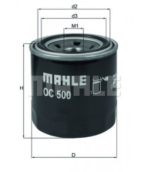 Фильтр масляный Mahle MH OC500 KIA Ceed Rio Hyundai I30 ix35
