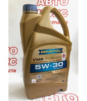 Синтетическое низкозольное моторное масло Ravenol VMP 5W30 MID SAPS 4L