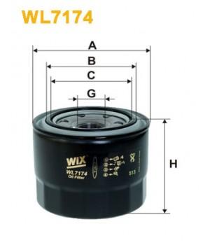 Фильтр масляный WIX WL7174 Toyota Camry Corolla