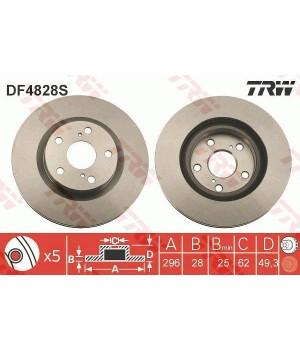 Тормозной диск передний TRW DF4828S Toyota Auris Camry Prius
