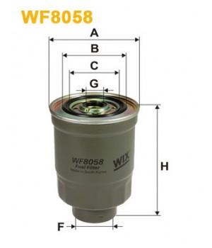 Фильтр топливный WIX WF8058 Hyundai Galloper H100 Mitsubishi L200 L300
