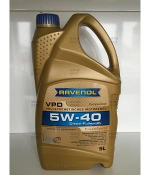 Синтетическое моторное масло Ravenol VPD 5W40 5L