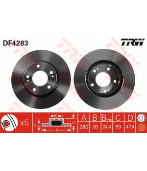 Тормозной диск передний TRW DF4283 KIA Hyundai